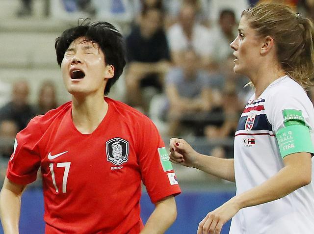 [슬라이드 화보] 아쉬움 남는 여자축구 안타까운 순간들