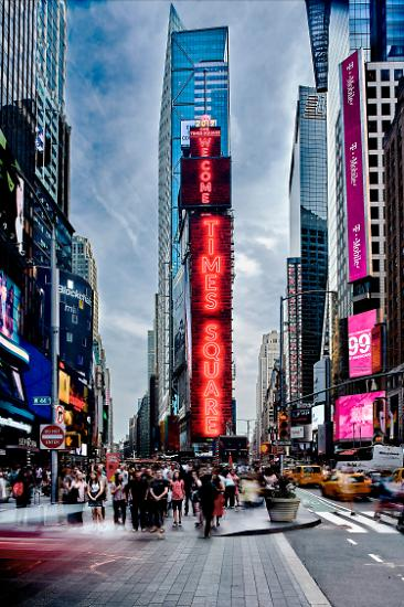 뉴욕 타임스 스퀘어 중심에 삼성 LED 사이니지