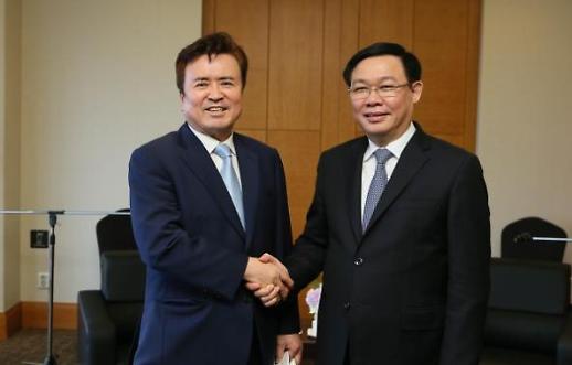 Chủ tịch Thời báo Kinh tế AJU diện kiến Phó Thủ tướng Việt Nam Vương Đình Huệ
