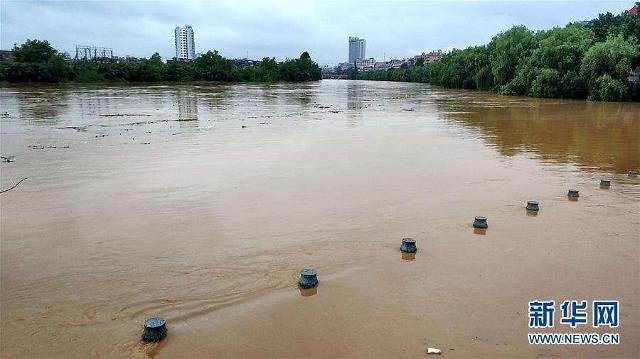 [중국포토]남부지역 재해 잇따라...이번엔 폭우 물난리