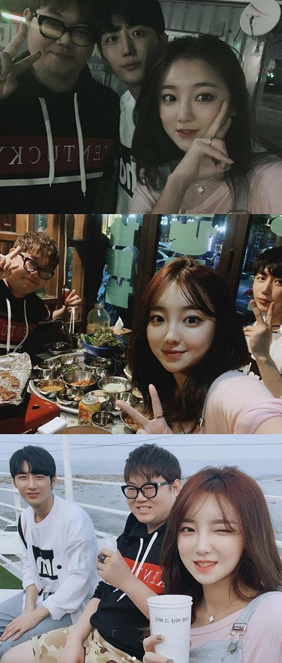 """외질혜, 한달전 감스트·NS남순과 찍은 사진 올리며 """"난 인복 좋아"""""""