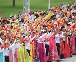 .朝鲜民众热烈欢迎习近平.