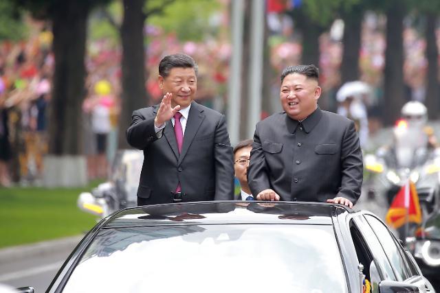[슬라이드 화보] 북한이 공개한 시진핑 평양 1박 2일 초특급 의전
