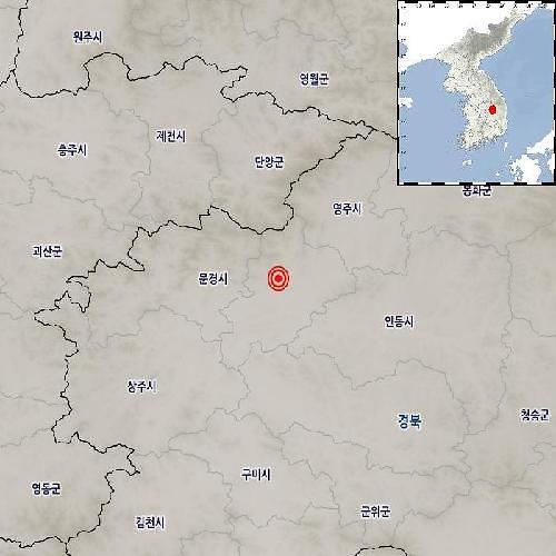 경북 예천서 규모 2.4 지진…충북까지 영향