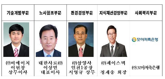 인천상의, 제37회 상공대상 수상업체 선정
