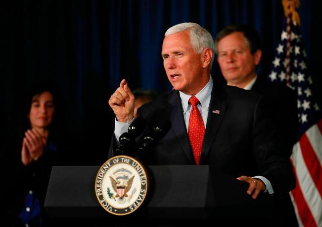 """펜스 美부통령도 이란에 경고…""""모든 선택지 테이블 위에"""""""
