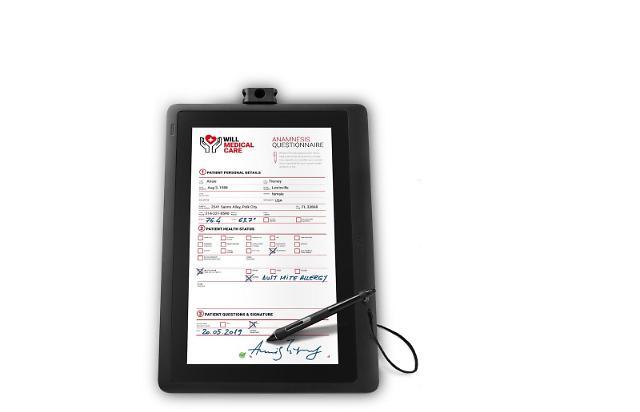 와콤, A4 사이즈 전자서명용 펜 디스플레이 DTK-1660E 출시