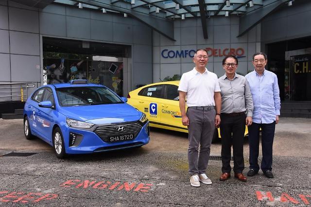 정의선 현대차 부회장, 싱가포르 '전기 택시' 2000대 계약권 따냈다