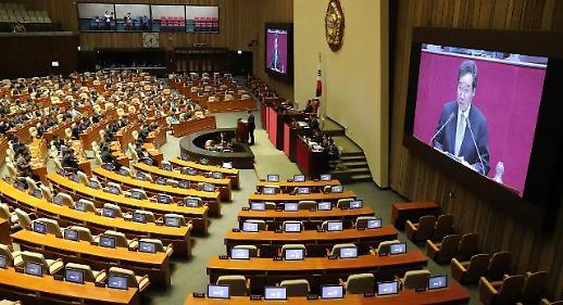 [포토] 이낙연 총리, 한국당 불참 속 시정연설