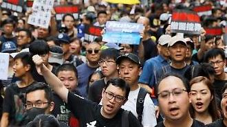 """홍콩 시민들 또 거리로...""""G20 지도자 관심 촉구"""""""