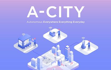 """네이버 """"사람-공간-로봇 잇는 미래 도심 환경 'A-CITY' 시대 준비하겠다"""""""
