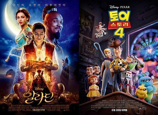 토이 스토리4, 알라딘…여름 극장가는 디즈니 집안 싸움