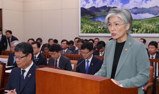 """강경화 G20 한일정상회담, 아직 공식 결정된 바 없어"""""""