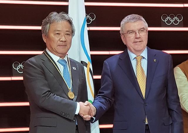 """이기흥 체육회장, IOC 위원 선출…""""IOC가 국민에게 드린 선물"""""""