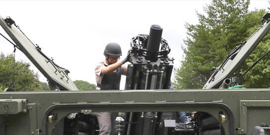 [포토] 가공할 파괴력 120mm 자주 박격포