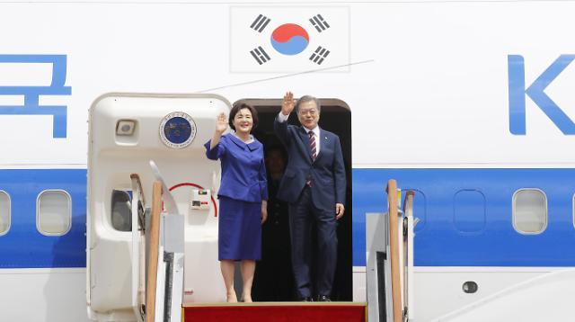 文在寅启程前往大阪出席G20峰会