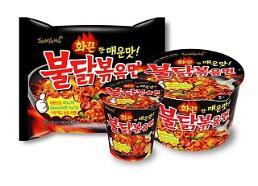 .去年中国进口韩国方便面近1亿美元 网民最爱火鸡面.