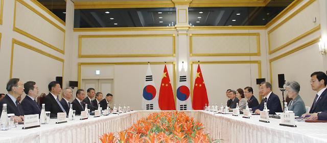 韩中首脑开始会谈
