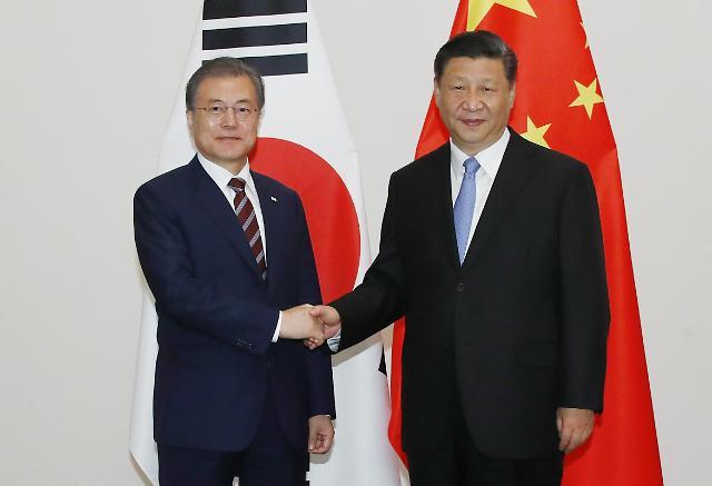 文在寅与习近平在大阪举行会谈