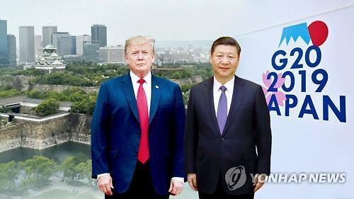 "[G20정상회의 2019]트럼프 ""어젯밤 시 주석 비공식적으로 만나 많은 것 이뤄"""