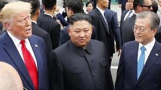 """中·日 언론 """"트럼프-김정은 손 잡았다... 남·북·미 판문점 회동 주목"""