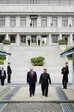 .[SUMMIT] Trump becomes frst U.S. leader to walk into N. Korean soil.