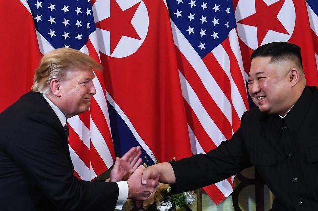 韩朝美领导人在板门店会面 特朗普成踏上朝鲜领土的首位现任美国总统