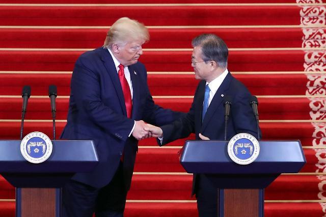 한미 정상회담, 무역·대미투자·방위비 분담 논의한 듯