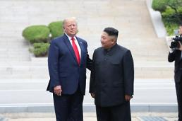 Pyongyangs state media highlights historic meeting between Kim and Trump