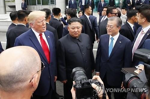 无法预测的特朗普 推特已经告知韩朝美在非军事区(DMZ)会晤吗?