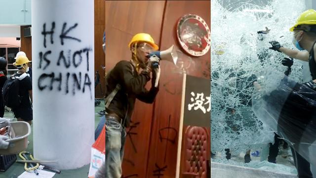 [슬라이드 화보] 홍콩 시위 갈수록 격화...의사당 건물 점거