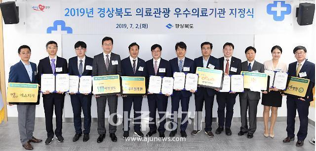 경북도, 의료관광 우수의료기관 6곳 선정...지정서 및 현판 전달