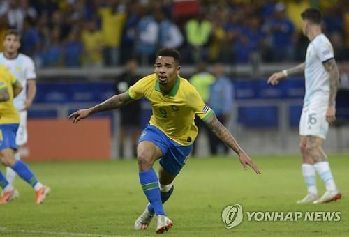 [코파아메리카] '제수스 맹활약' 브라질, 아르헨티나 2-0 제압 '결승 선착'