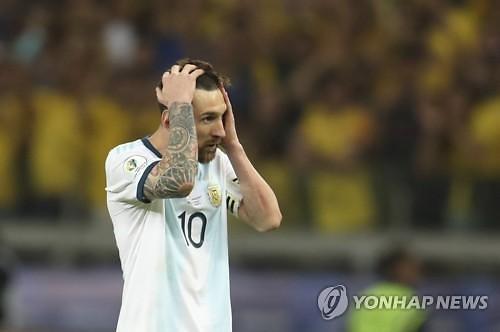 [코파아메리카] '필드골 0' 메시, 결승 문턱서 굴욕적 퇴장…아르헨티나, 브라질에 완패