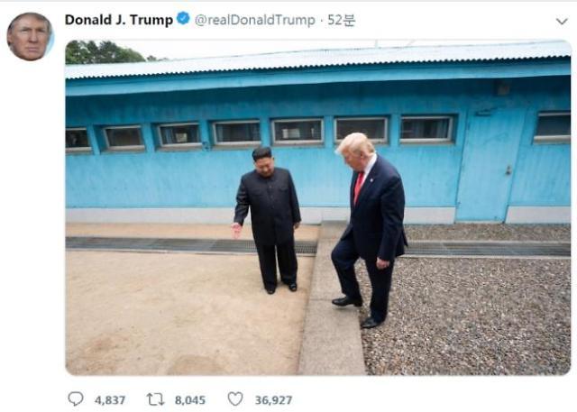 特朗普:我是去过朝鲜的人 白宫:你应该得诺贝尔和平奖
