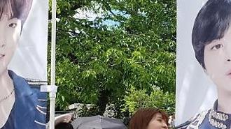 [포토] 입장 기다리는 방탄소년단 일본팬들
