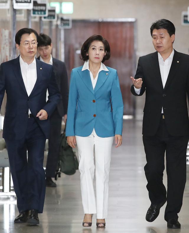 """나경원 """"국토위원장 버티기 박순자 징계절차 오늘중 착수"""""""