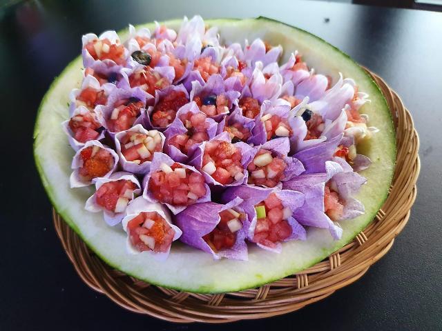 [광화문갤러리] 눈으로 먹는 초롱꽃 과일 보쌈