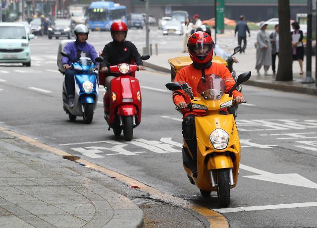 韩国电动摩托车普及率未达预定目标