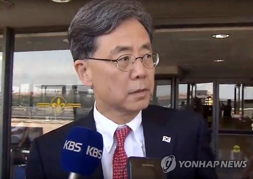 """訪美 김현종, """"한미일 3자 고위급 협상 없을 듯"""""""