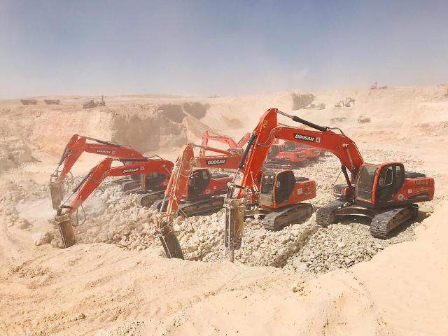 두산인프라코어, 중동 건설기계 시장점유율 13.4%…매출 2배 증가