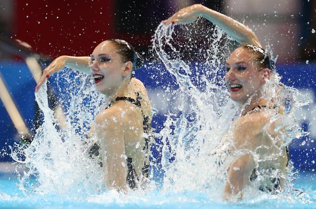 [슬라이드 화보] 세계 최강 러시아 아티스틱 수영 완벽한 호흡, 금빛 열연