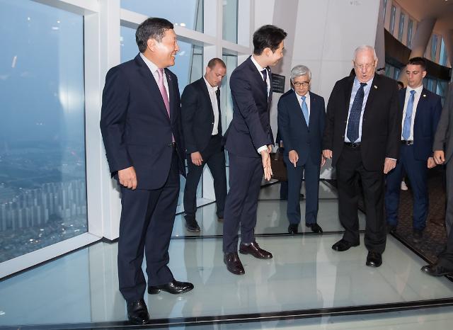 [포토] 롯데월드타워 찾은 이스라엘 대통령