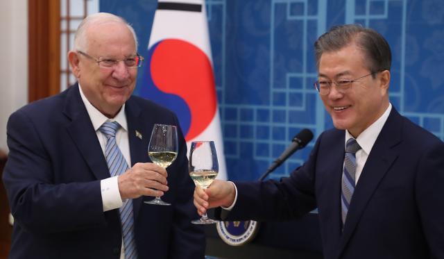 """文대통령, 15일 한·이스라엘 정상회담..."""" FTA 조기타결로 경제협력 확대"""""""