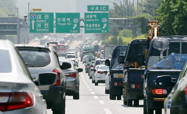 韩国汽车登记数量达2344万辆 每2.2人拥有1辆车