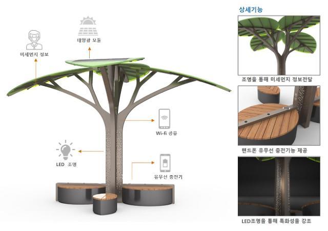 태양광 나무에서 와이파이·폰 충전·미세먼지 정보까지