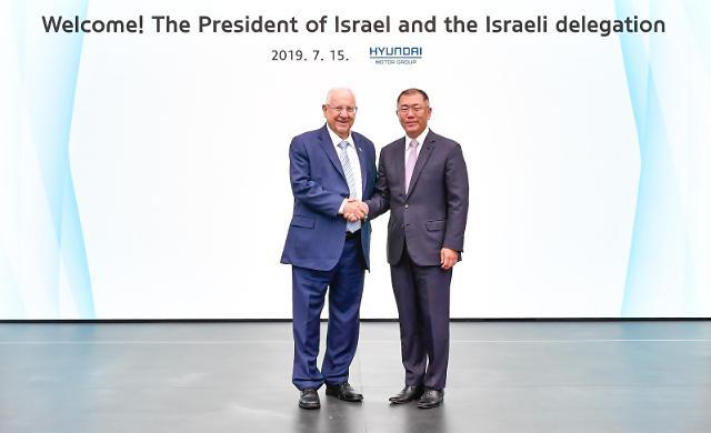정의선 부회장·리블린 대통령, 현대차·이스라엘 미래 사업 함께 할 것 약속