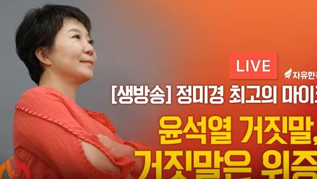 정미경 의원 막말에도 유튜브 채널 오른소리 인기