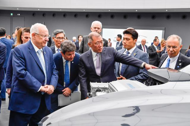 [포토] 현대차그룹 찾은 이스라엘 대통령
