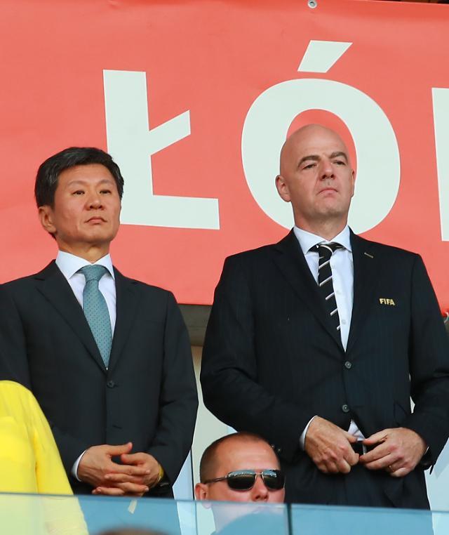 国际足联主席致信祝贺韩国获U20世界杯亚军
